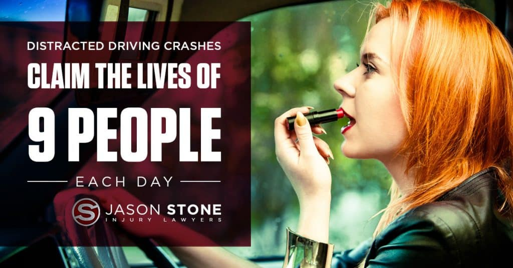 graphic concept for distracted driving statistics