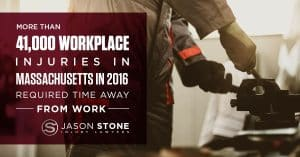 graphic representing workplace injuries in massachusetts