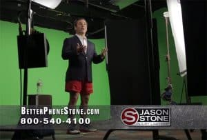 Boston injury attorney Jason Stone in a TV commercial