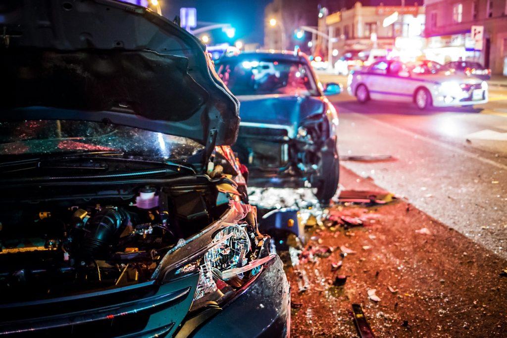 Car crash due to speeding