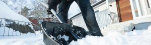 Image of someone shoveling snow