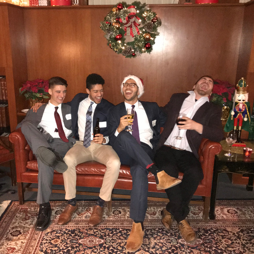 Lawyers having a good time during Christmas time