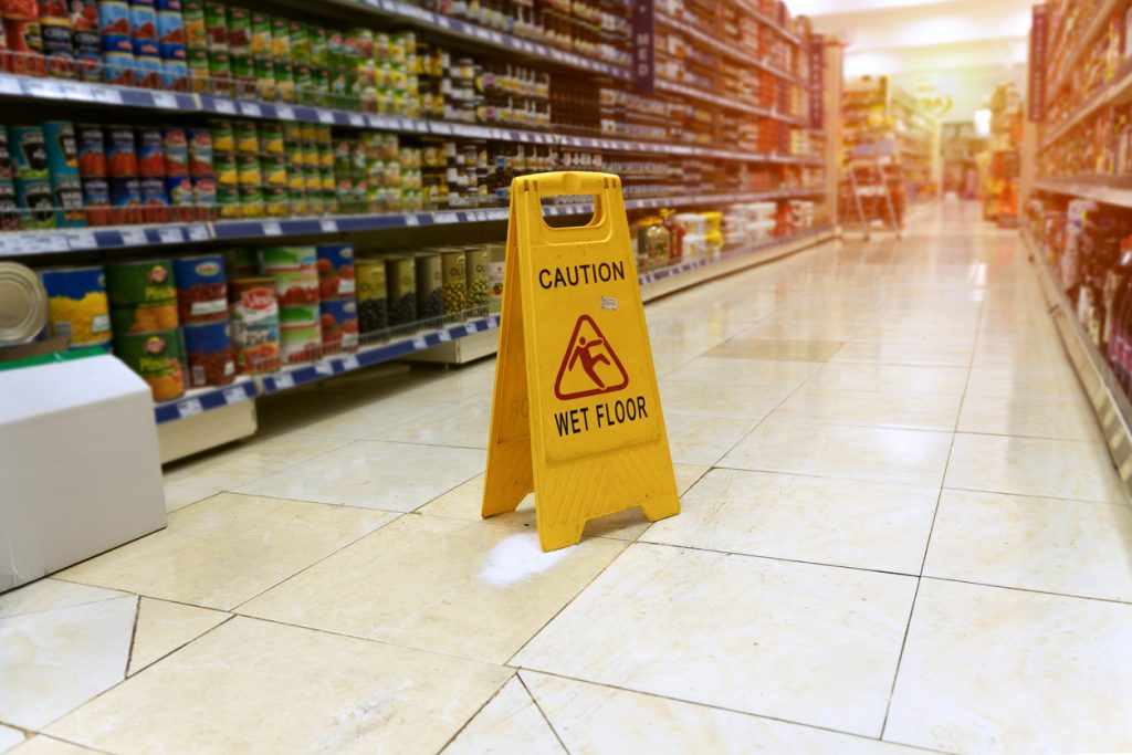 Slip and fall on business property